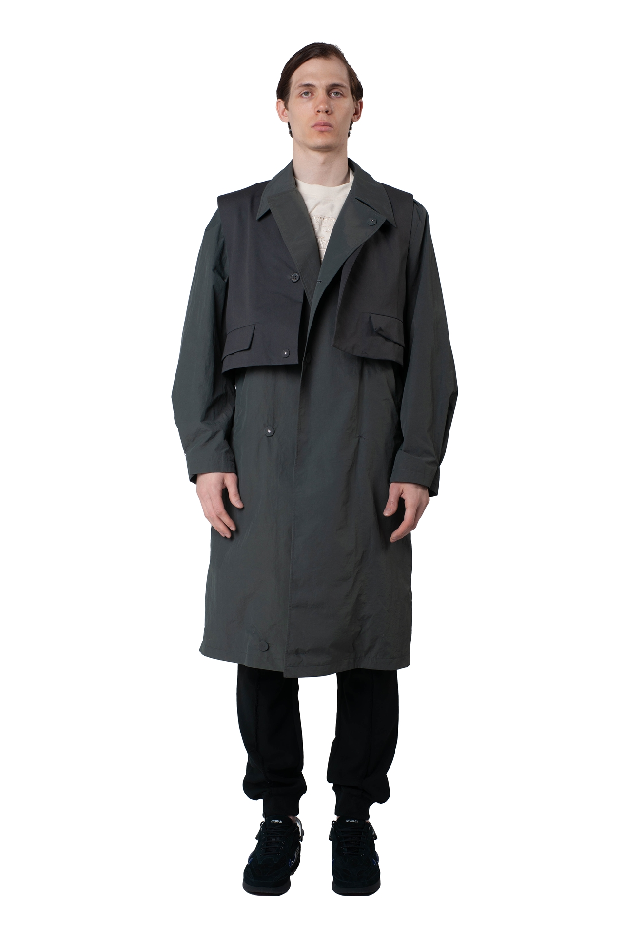 H Trenchcoat BKASSTC02CC Größe: A1 Farbe: charcoal